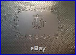 S. Kirk & Son Repousse Sterling Castle Architecture Tea Coffee Set Tray 242.6 Oz