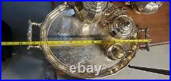 STERLING SILVER TEA SET With TRAY 116 TROY OZ FRENCH/ SPANISH EARLY 20TH CENTURY