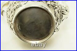 Schofield Co Tea Set Hand Chased Rose or Baltimore Rose Sterling Silver 5 Piece