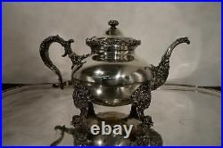 Schumann's sons sterling silver tea set. 5pc with tray