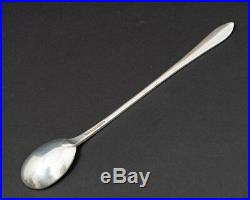 Set of 10 Tiffany & Co Sterling Silver 7.5 Iced Tea Spoons Feather Edge c1901