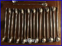 Set of 19 Vintage Sterling Silver Iced Tea, Cocktail, Soda Spoons and Straws