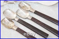 Set of 4 Taxco William Spratling Rosewood Sterling Silver Tea Spoons Marked RARE