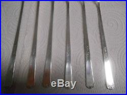 Set of 6 Towle Rambler Rose Sterling Silver 8 1/8 Iced Tea Spoons NO MONO