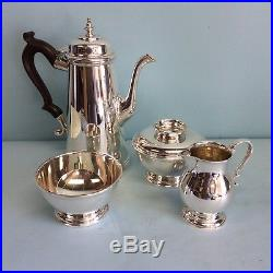 Sterling Silver 4-Pc Tea Set by Ensko NY Reproduction Circa 1725-1750