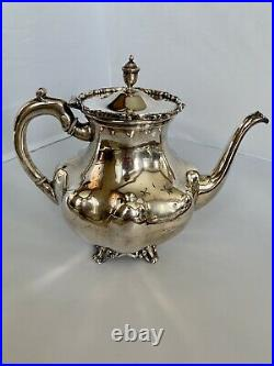 Sterling Silver Coffee & Tea Set With Tray