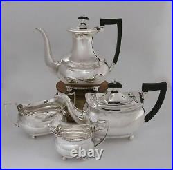 Sterling Silver Coffee/Tea Set by Barker Bros. Chester England 1924