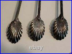 Sterling Silver Iced Tea Sipper Spoons Shell Bowls Tiffany Design Set Of 10