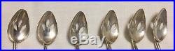 Sterling Silver Long Handle 8 Iced Tea Straw Spoons Set of 6