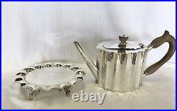 Sterling Silver Tea Set & Matching Tray Signed 17.5 Pounds 7962 Grams