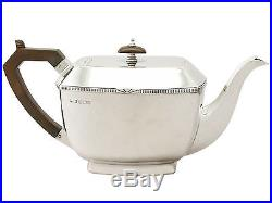 Sterling Silver Three Piece Tea Set Art Deco Style Antique George V