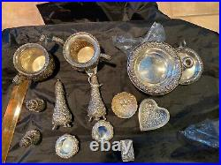 Stieff Rose Sterling Set Creamer And Sugar #800 Tea Set Size From Collection