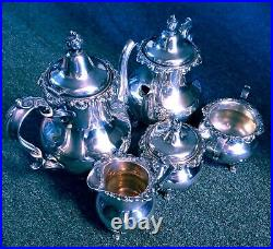 Strasbourg by Gorham Sterling Silver 5pc Coffee and Tea Set EXCELLENT NOT DENTED
