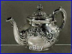 Theodore Starr Sterling Tea Set c1910 HAND DECORATED