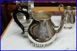 Tiffany & Co Hallmarked Three Pieces Queen Anne Sterling Silver Tea Set &Tray