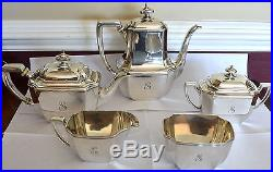 Tiffany & Co. Hampton Sterling Silver 5 Piece Tea Set With Waste Bowl # 18389