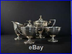 Tiffany & Co. Heavily detailed 4pc tea set in sterling silver c. 1913