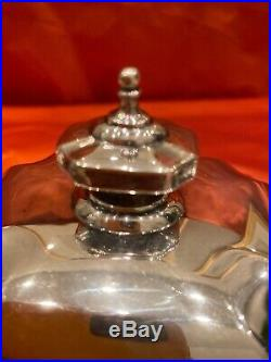 Tiffany & Co Sterling Silver-Tea Coffee Set-Hampton Pattern-Excellent Condition