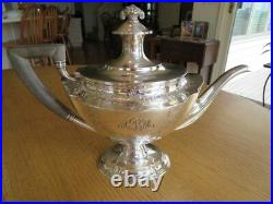 Tiffany & Co Sterling Silvertea Coffee Set6p With Standetched Floral3922 Gr