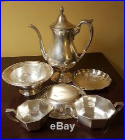 Tiffany Sterling & King Fisher Sterling Silver 925 Six Piece Tea Set