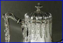 Tiffany Sterling Silver Tea Set c1860 Weighs 69 Ounces