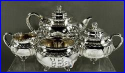 Tiffany Sterling Silver Tea Set c1880 Wave Edge