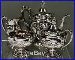 Towle Sterling Silver Tea Set c1950 OLD MASTER 61 OUNCES