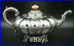 UNIQUE KINGS English 925 Sterling Silver Coffee and Tea Set Service with Samovar