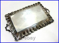VTG Mexico Sterling Silver & Turquoise Miniature Dollhouse 7 pc Tea Set with Tray