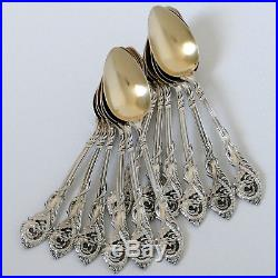 Veyrat French Sterling Silver 18k Gold Tea Coffee Spoons Set Sculpted Dragons