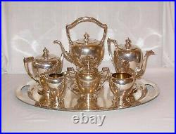 Vintage Reed & Barton Sterling Silver Tea & Coffee Set with SS Tray and Kettle