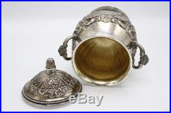 Vintage Set of 4 Sterling Silver Tea Set Made in Italy 85.7 Troy Ounces