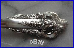 Vintage Set of 4 Wallace Sterling Silver Iced Tea Spoons Grande Baroque
