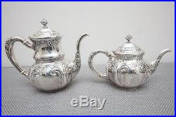 Wallace Antique Sterling Silver Tea Set Teapot, Coffee, Creamer, Sugar #706
