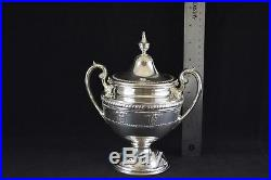 Wallace Rose Point Sterling Silver Complete 5-Piece Tea Set #4615-9 NO MONOGRAMS