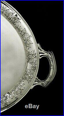Wallace Silversmiths Sterling Tea Set Tray c1940 117 Ounces