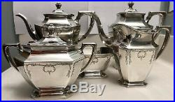 Wallace SterlingRW&S Somerset Pattern 5pc Tea Set Incl. Waste Bowl 54.07ozt