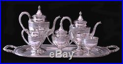 Wedgwood By International Sterling Tea Set With Sterling Tray 165 oz