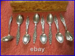 Whiting Sterling Lily Of The Valley Coffee Tea Set In Presentation Box 8 Pieces