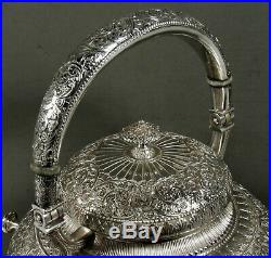 Whiting Sterling Silver Tea Set c1875 PERSIAN
