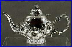 Whiting Sterling Tea Set 1905 HIBISCUS